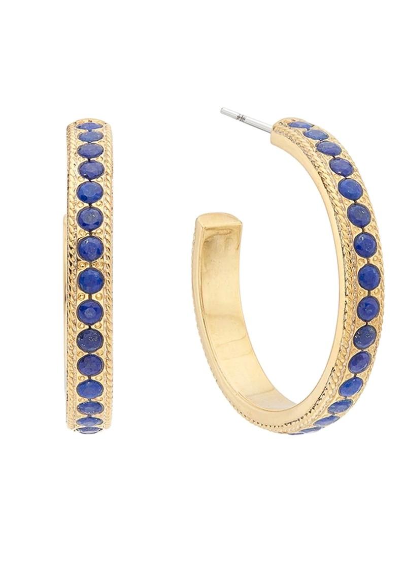 ANNA BECK Lapis Medium Pave Hoop Earrings - Gold main image