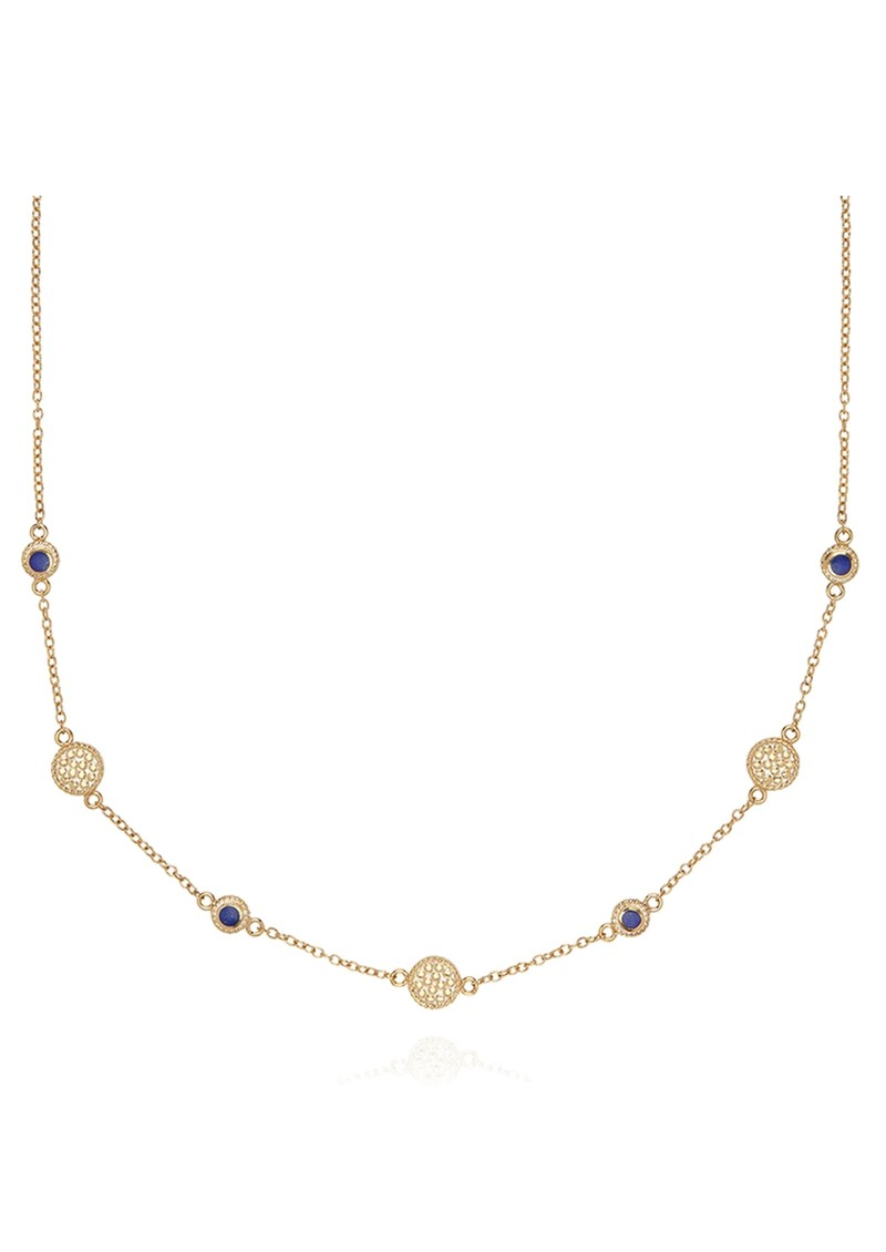 ANNA BECK Lapis Station Collar Necklace - Gold main image