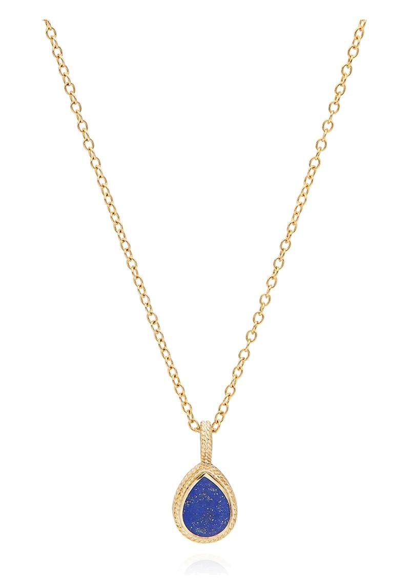 ANNA BECK Lapis Teardrop Necklace - Gold main image