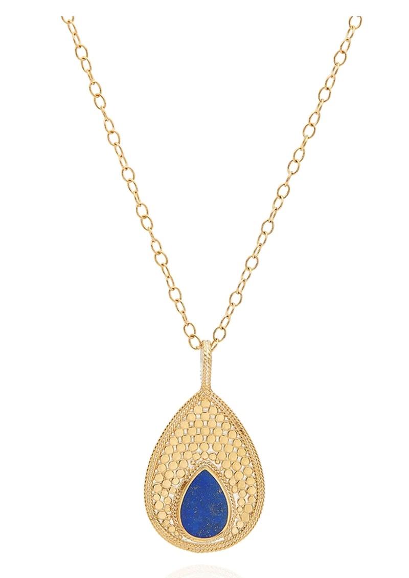 ANNA BECK Lapis Large Pendant Teardrop Necklace - Gold main image