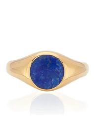 ANNA BECK Lapis Signet Ring - Gold