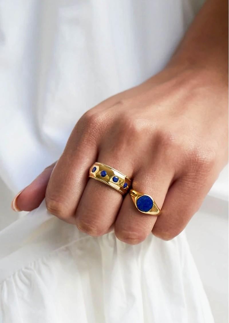 ANNA BECK Lapis Signet Ring - Gold main image