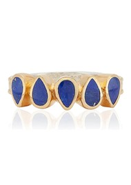ANNA BECK Lapis Multi Drop Ring - Gold