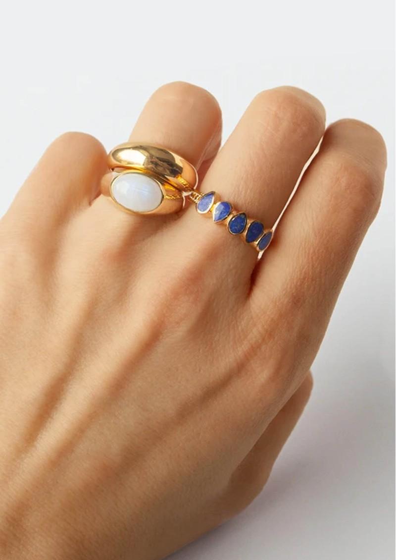 ANNA BECK Lapis Multi Drop Ring - Gold main image
