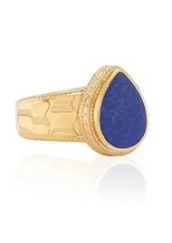 ANNA BECK Lapis Hammered Drop Ring - Gold