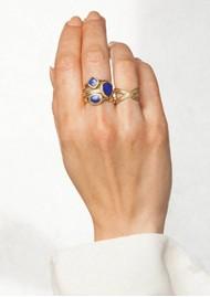 ANNA BECK Lapis Faux Stacking Ring - Gold