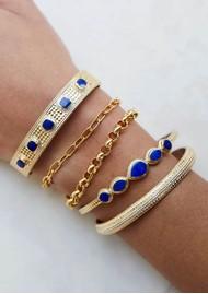 ANNA BECK Lapis Multi Stone Cuff - Gold