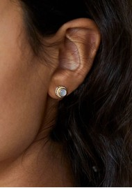 ANNA BECK Mother of Pearl Stud Earrings - Gold