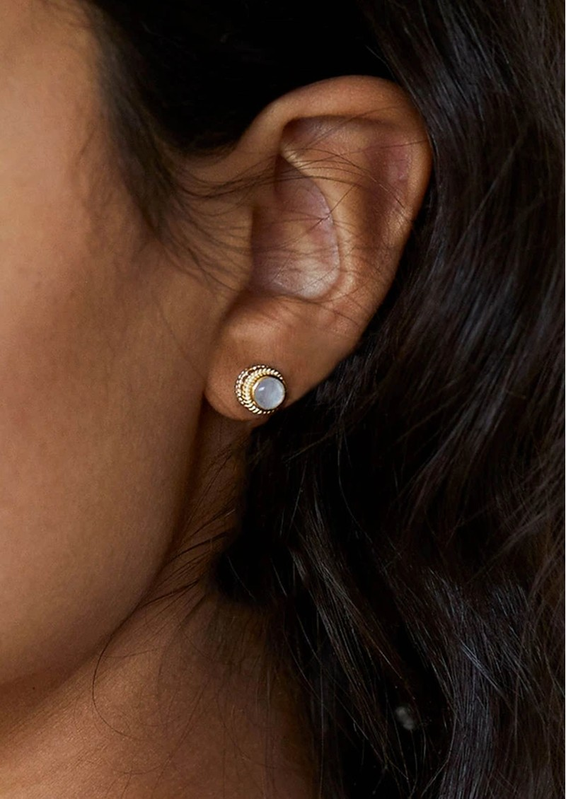 ANNA BECK Mother of Pearl Stud Earrings - Gold main image