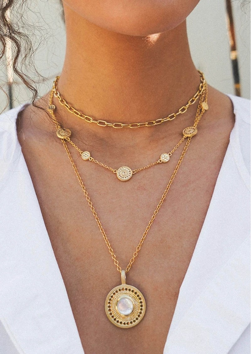 ANNA BECK Mother Of Pearl Statement Necklace - Gold main image