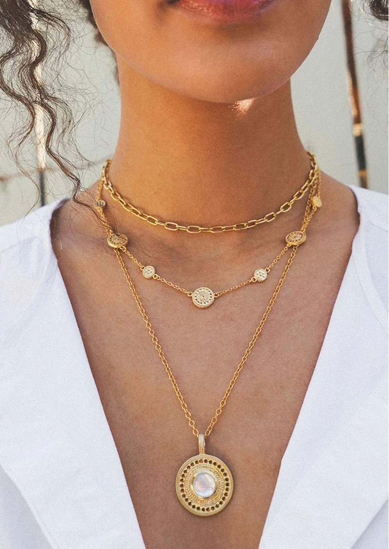 ANNA BECK Dotted Station Necklace - Gold main image