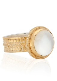 ANNA BECK Mother of Pearl Cocktail Ring - Gold