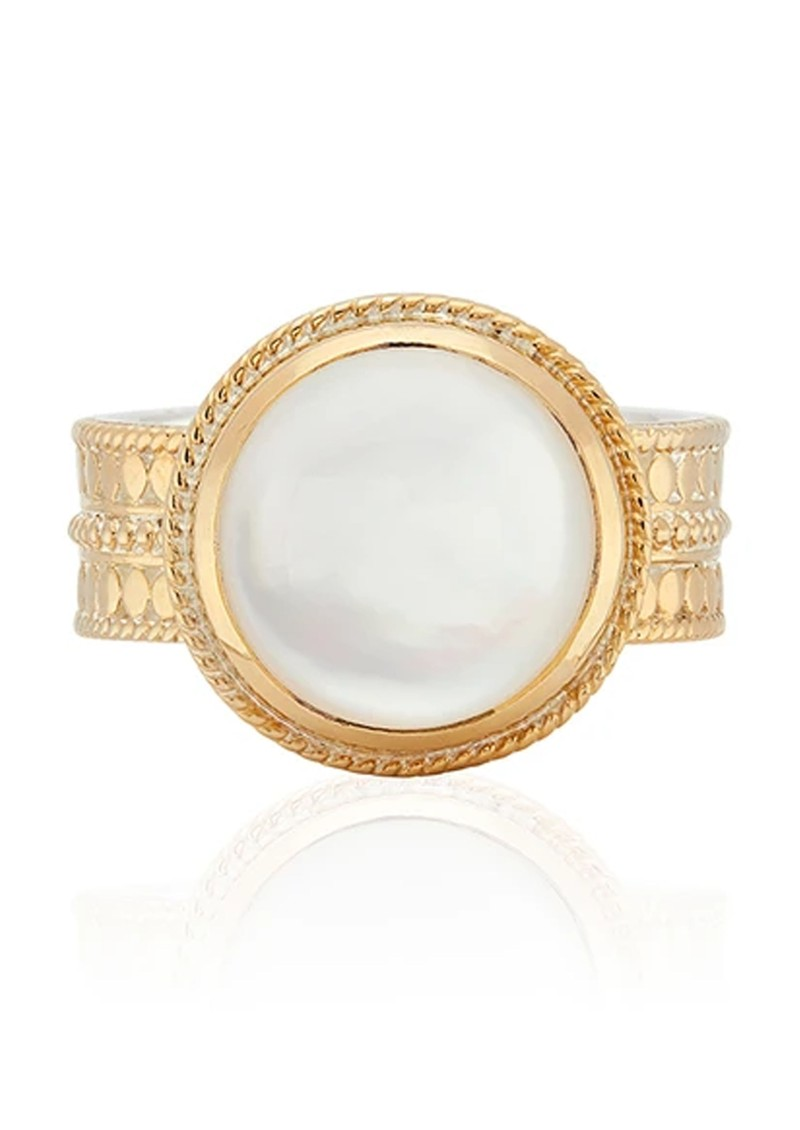 ANNA BECK Mother of Pearl Cocktail Ring - Gold main image