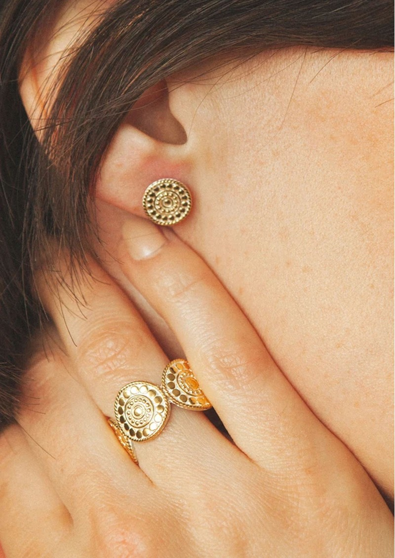 ANNA BECK Dotted Multi Disc Stacking Ring - Gold main image