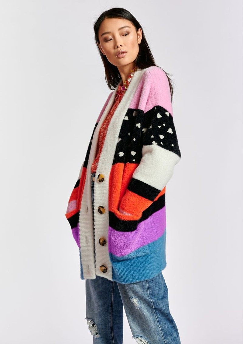 ESSENTIEL ANTWERP Zydra Oversized Cardigan - Multicoloured main image