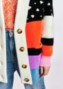 Zydra Oversized Cardigan - Multicoloured additional image