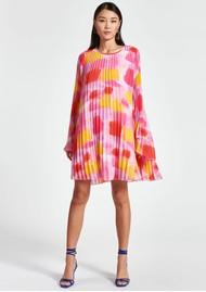 ESSENTIEL ANTWERP Zisse Pleated Short Dress - Super Pink