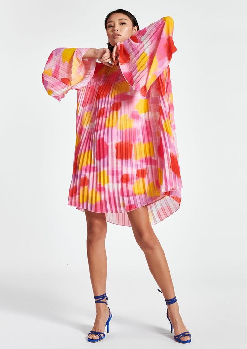 ESSENTIEL ANTWERP Zisse Pleated Short Dress - Super Pink main image