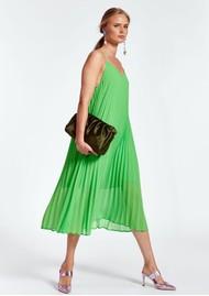 ESSENTIEL ANTWERP Zague Pleated Strappy Dress - Flash Lime