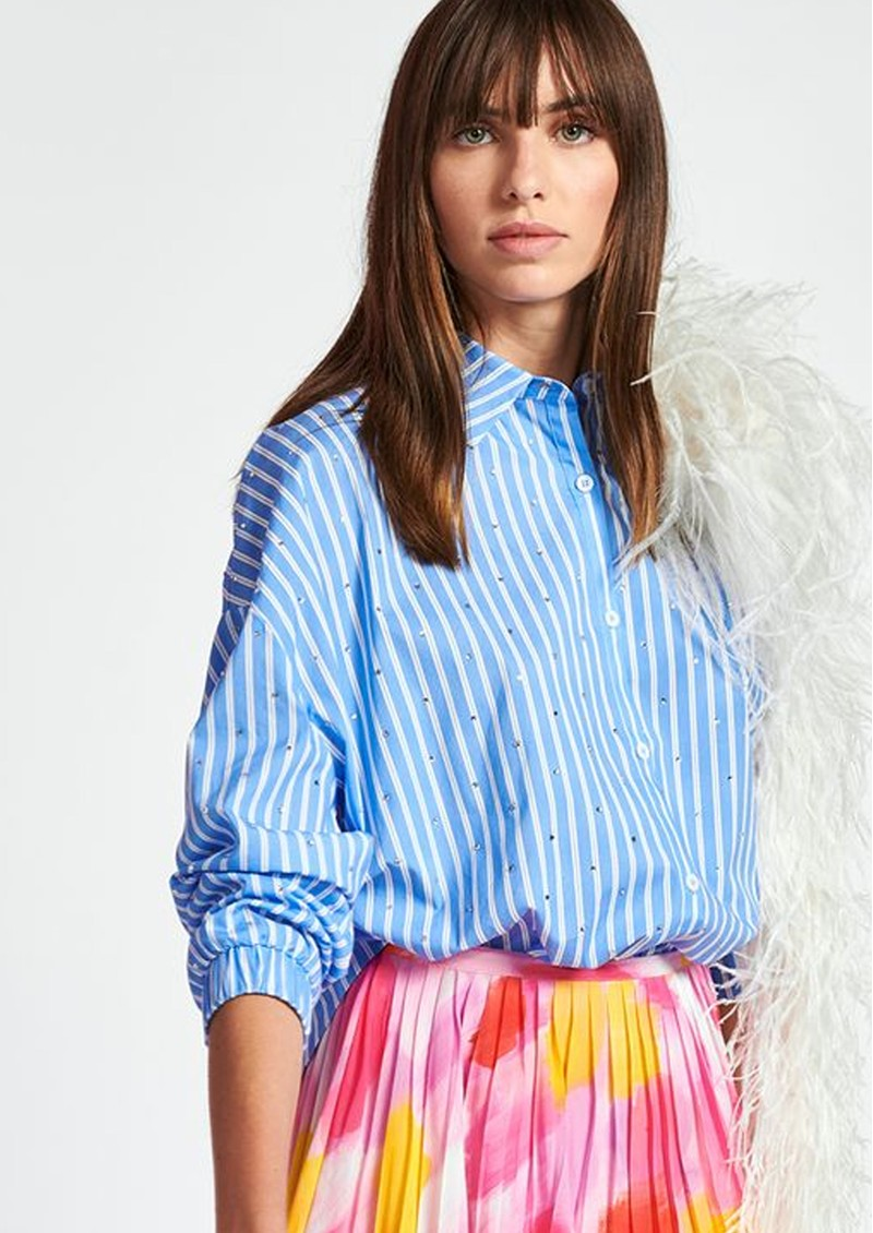 Zaboon Oversized Stripe Shirt - Halogen main image