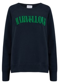 JUMPER 1234 Marvellous Sweatshirt - Navy & Green