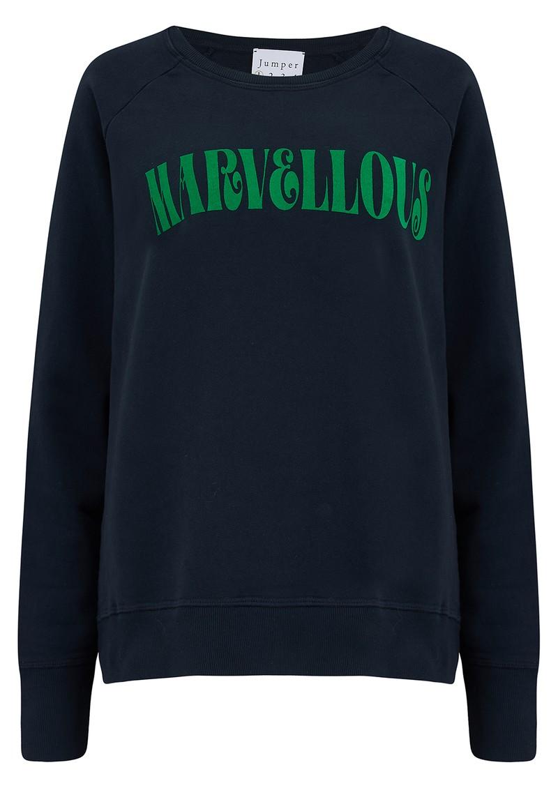 JUMPER 1234 Marvellous Sweatshirt - Navy & Green main image