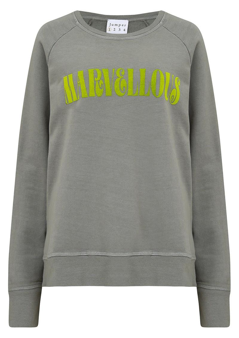 JUMPER 1234 Marvellous Sweatshirt - Grey & Yellow main image
