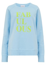 JUMPER 1234 Fabulous Sweatshirt - Sky Blue & Yellow