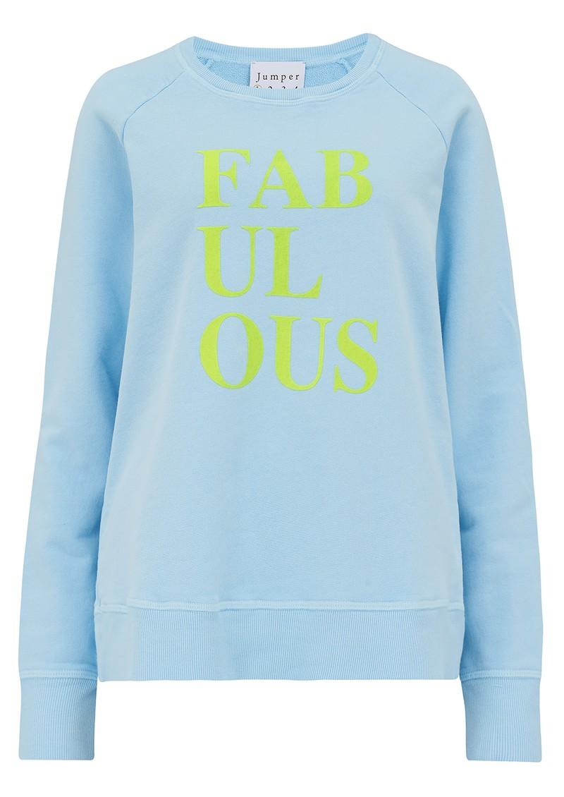 JUMPER 1234 Fabulous Sweatshirt - Sky Blue & Yellow main image