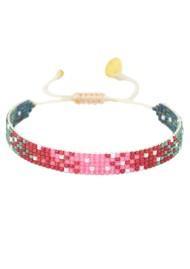 MISHKY Mystic Heart Beaded Bracelet - Pink, Red & Green