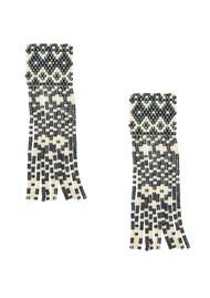 MISHKY Alhambra Beaded Earrings - Black & Cream