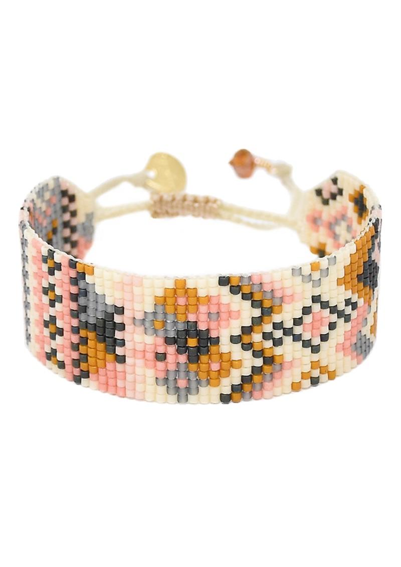 MISHKY Alhambra Beaded Bracelet - Pink, Cream & Gold main image
