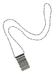 MISHKY Alhambra Beaded Necklace - Black & Cream