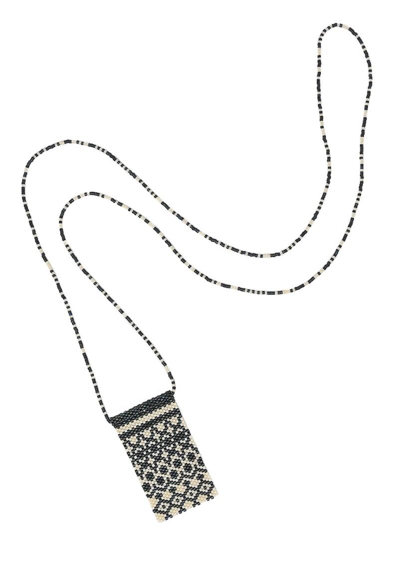 MISHKY Alhambra Beaded Necklace - Black & Cream main image