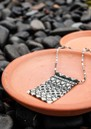 Alhambra Beaded Necklace - Black & Cream additional image