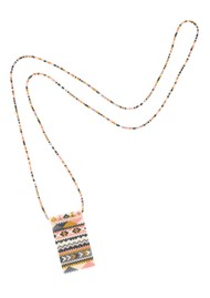 MISHKY Alhambra Beaded Necklace - Pink, Cream & Gold