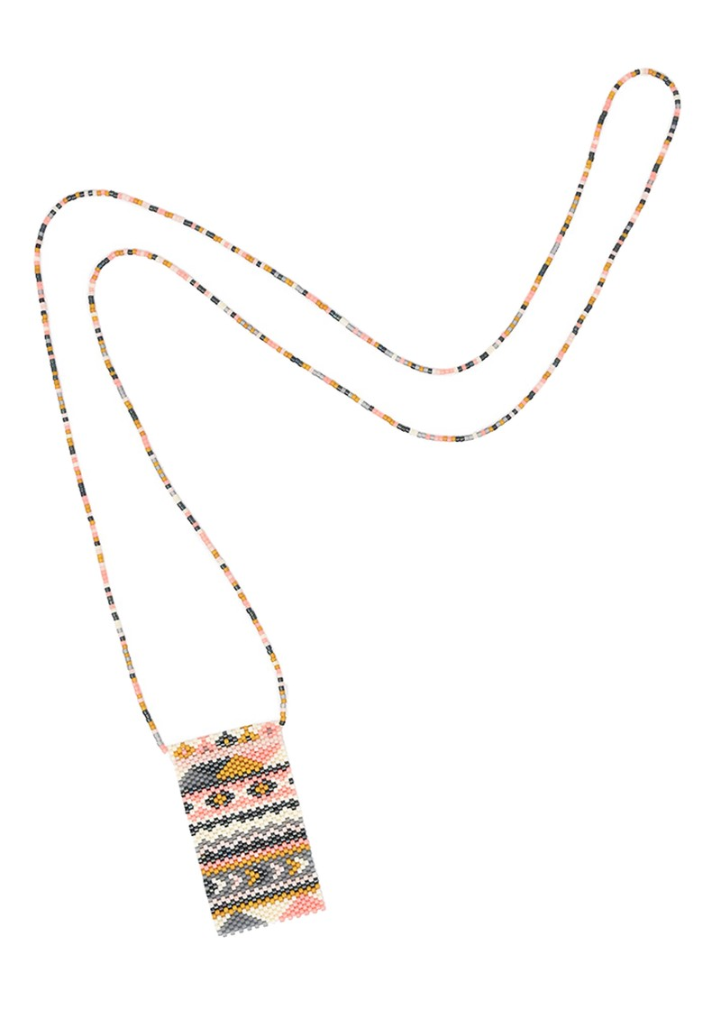MISHKY Alhambra Beaded Necklace - Pink, Cream & Gold main image