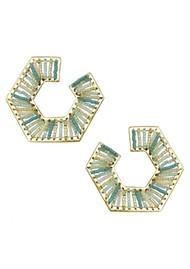 MISHKY Prisma Earrings - Gold & Blue