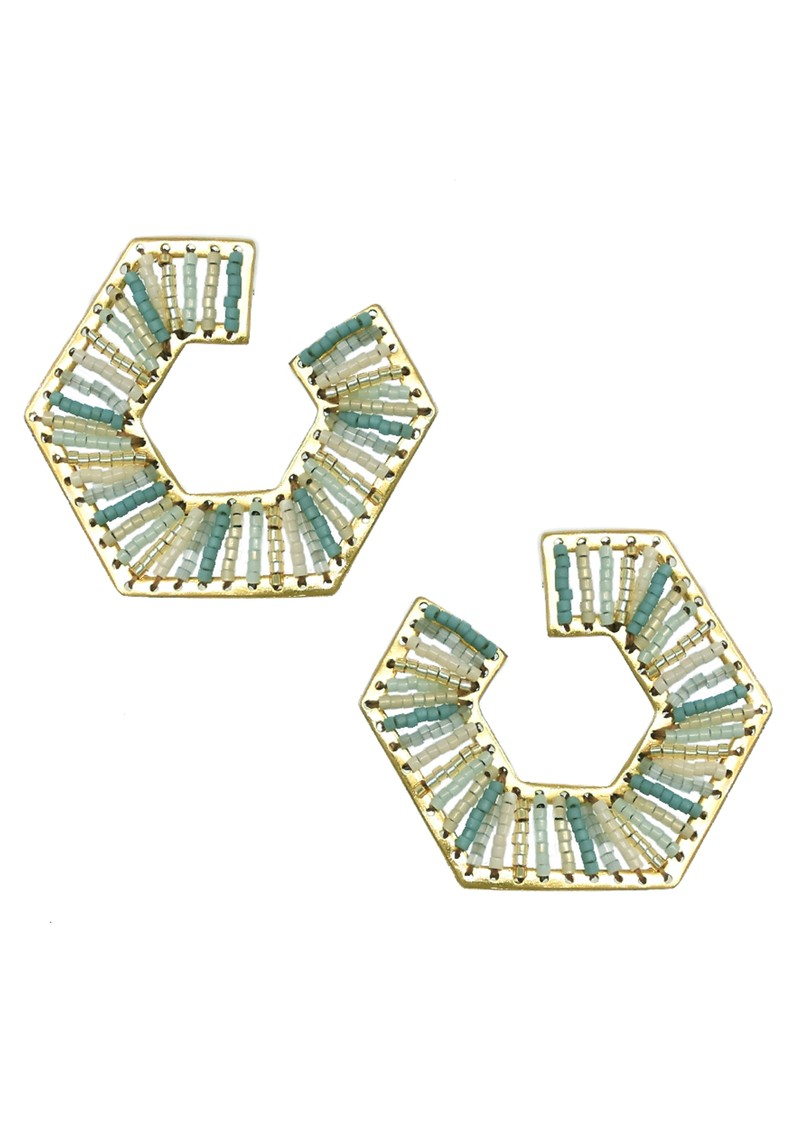 MISHKY Prisma Earrings - Gold & Blue main image