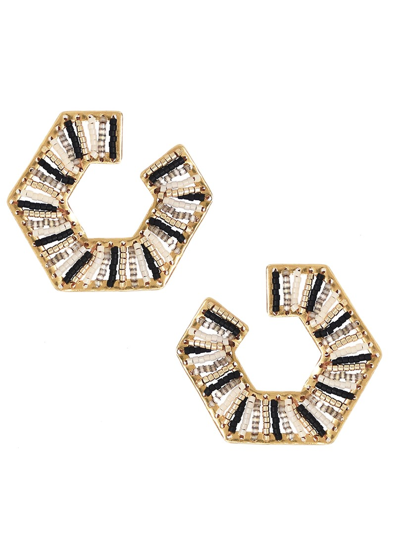 MISHKY Prisma Earrings - Gold & Black main image