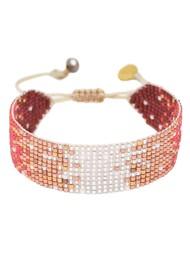 MISHKY Mystic Heart Beaded Bracelet - Silver, Copper & Red