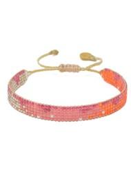 MISHKY Lune Beaded Bracelet - Pink & Orange