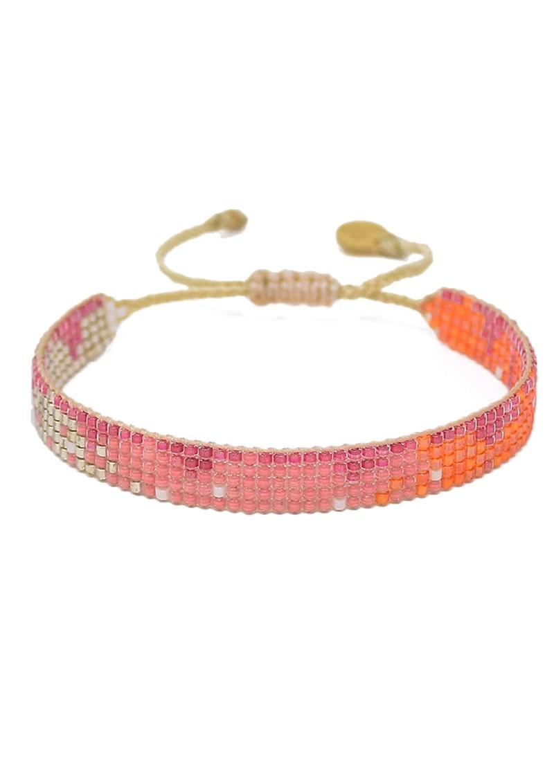 MISHKY Lune Beaded Bracelet - Pink & Orange main image