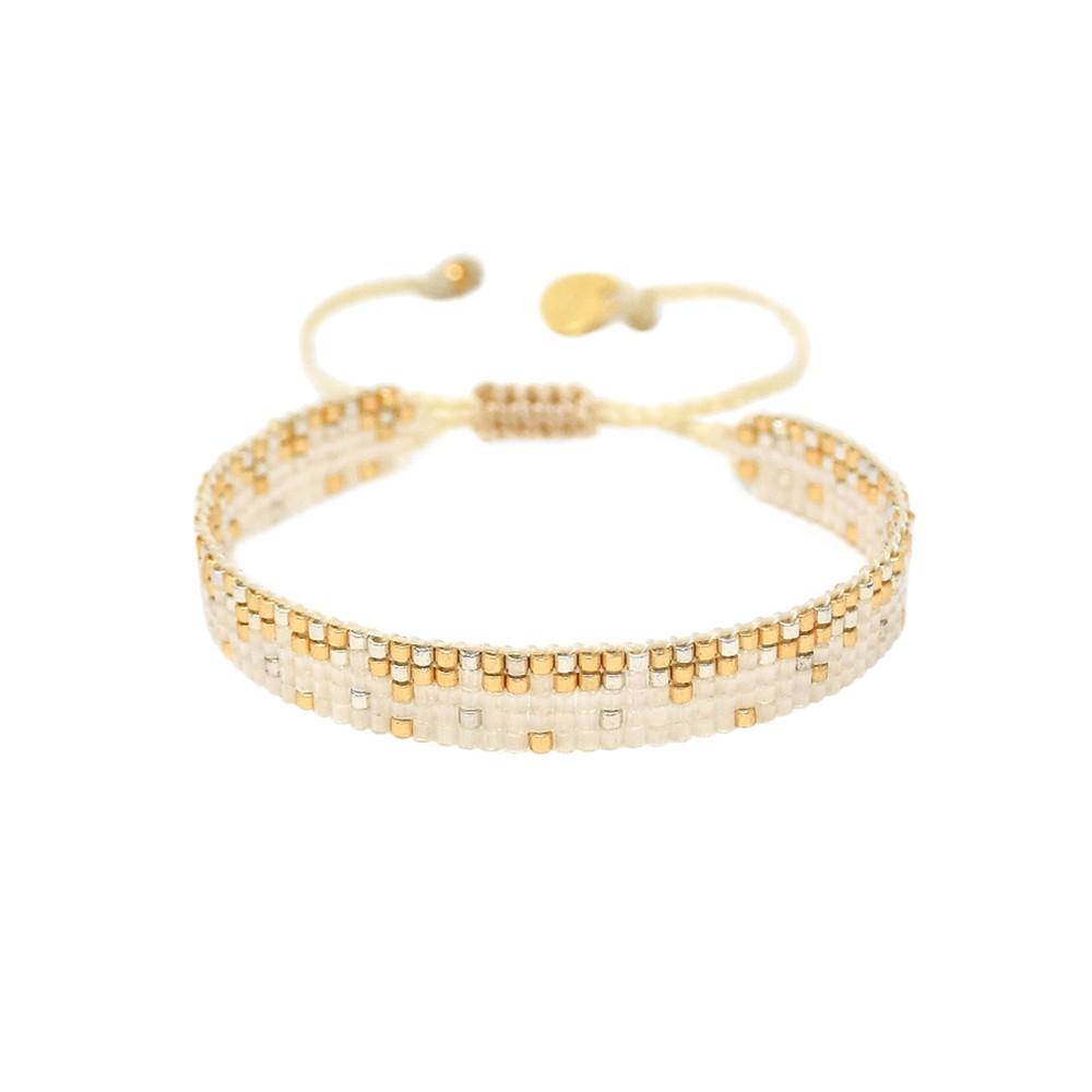 Ella Y EL Beaded Bracelet - Cream & Gold