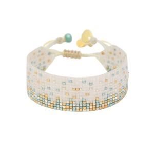 Ella Y EL Beaded Bracelet - Cream & Turquoise