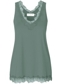 Rosemunde Simple Lace Top - Sea Green