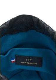 Sous Les Paves Jo Leather & Raphia Bag - Black