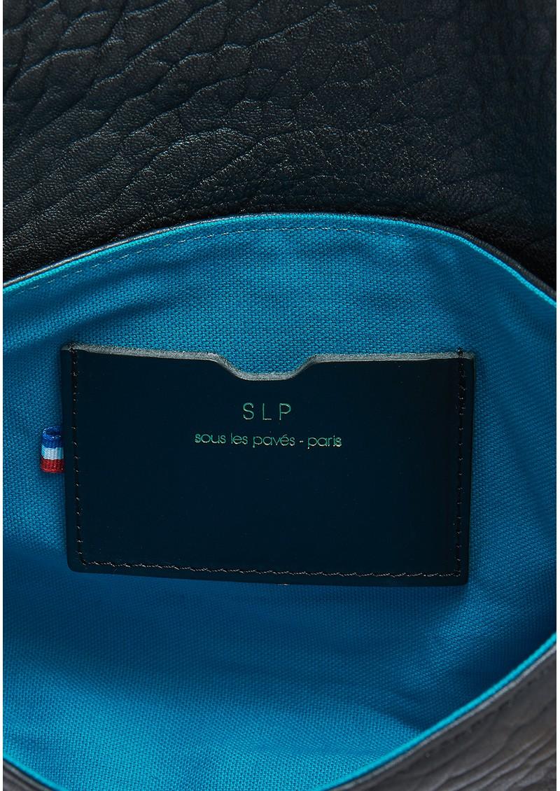 Sous Les Paves Mai Tai Leather & Raphia Cobra Handbag - Black main image