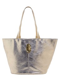 Sous Les Paves Maureque Tote Leather Bag - Silver