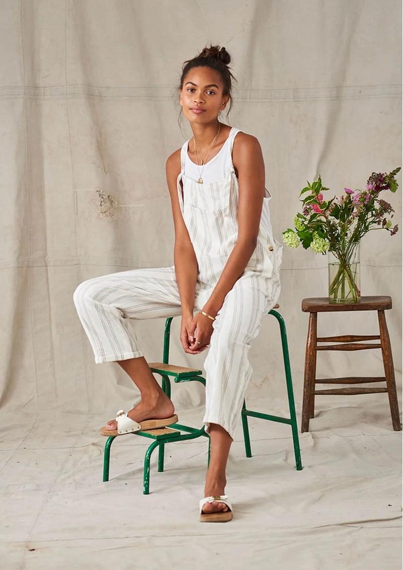 M.A.B.E Bobbi Cotton Jumpsuit - Ecru main image